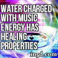 Water Charged with Music Energy Has Healing Properties