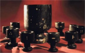 """Klaus Dona stated, """"inside the big cup it is very, very magnetic and outside the cup nearly nothing. Professional geologists are saying this is impossible because if a stone has metal particles inside the stone, it must be same magnetic from both sides."""""""