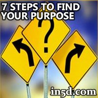 7 Steps to Find Your Purpose | in5d.com