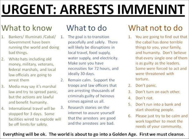 Imminent Mass Arrests of Globalists, Bankers and Political Elite | in5d.com