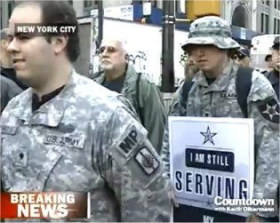 Nearly 100 Veterans, Including Active Service Members, March @Occupy Wall Street