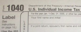 A 1040 form is for tribute paid to Britain. (IRS Publication 6209